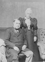 Sir Charles and Lady Frances Tupper, October 1896.