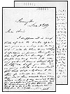 Letter from John Thompson to Annie Affleck, December 3, 1869.