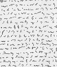 A letter in shorthand