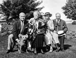Godfroy Patteson, Mrs Wreidt, Joan Patteson and Prime Minister Mackenzie King at Kingsmere.