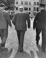 Prime Minister Mackenzie King leaving the National Liberal convention, August 7, 1948.