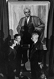 The unveiling of John Diefenbaker's official portrait, October 8, 1969.