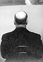 Photo of Prime Minister Mackenzie King taken for the carving of a portrait bust.