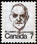 Louis St. Laurent stamp, 1974