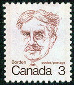 Original design for Sir Robert Borden stamp, 1973.