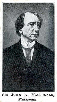 Carte de collection (recto) : John A. Macdonald.