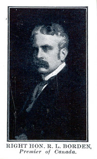 Carte de collection (recto) : Robert Borden.