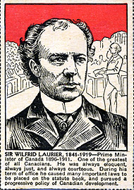 Carte de collection : Wilfrid Laurier.