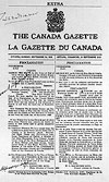 Canada Gazette proclamation autographed by Lord Tweedsmuir, King and Ernest Lapointe.