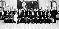 Swearing-in of Prime Minister Joe Clark and Cabinet, June 4, 1979.