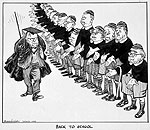 Caricature: Back to School (Prime Minister Lester Pearson and Cabinet), 1965