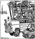 Caricature: Tory Cabinet (Prime Minister Brian Mulroney and Cabinet), 1985