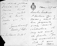 Covering letter from the Parliamentary Librarian Martin J. Griffin to Prime Minister Mackenzie Bowell regarding the Cabinet crisis, January 7, 1896.