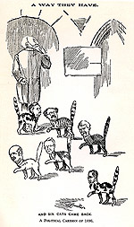 Cartoon and commentary concerning the Cabinet crisis of 1896