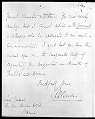 Letter from Prime Minister Robert Borden to Sam Hughes, the Minister of the Militia and Defence requesting Hughes's resignation, November 9, 1916