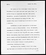 Memo by Prime Minister Lester Pearson concerning the Opposition's strategy on the flag debate, August 21, 1964.
