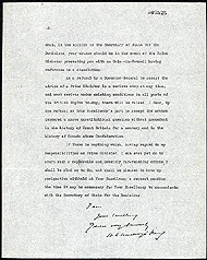 Letter of resignation from Prime Minister King to Governor General Lord Byng, June 28,  1926.