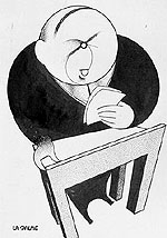 Caricature : William Lyon Mackenzie King.