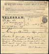 Telegram from W.C. Van Horne to Prime Minister John A. Macdonald announcing the completion of the Canadian Pacific Railway, November 7, 1885.
