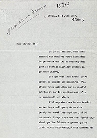 Resignation letter from Secretary of State and Minister of Mines E.L. Patenaude to Prime Minister Robert Borden, June 8, 1917.