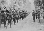 28th Canadian Infantry Battalion marching past Prime Minister Robert Borden, 1918