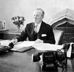 Prime Minister Lester B. Pearson in his East Block office