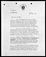 Letter with job offer from Prime Minister Mackenzie King to Arnold Heeney, July 13, 1938.