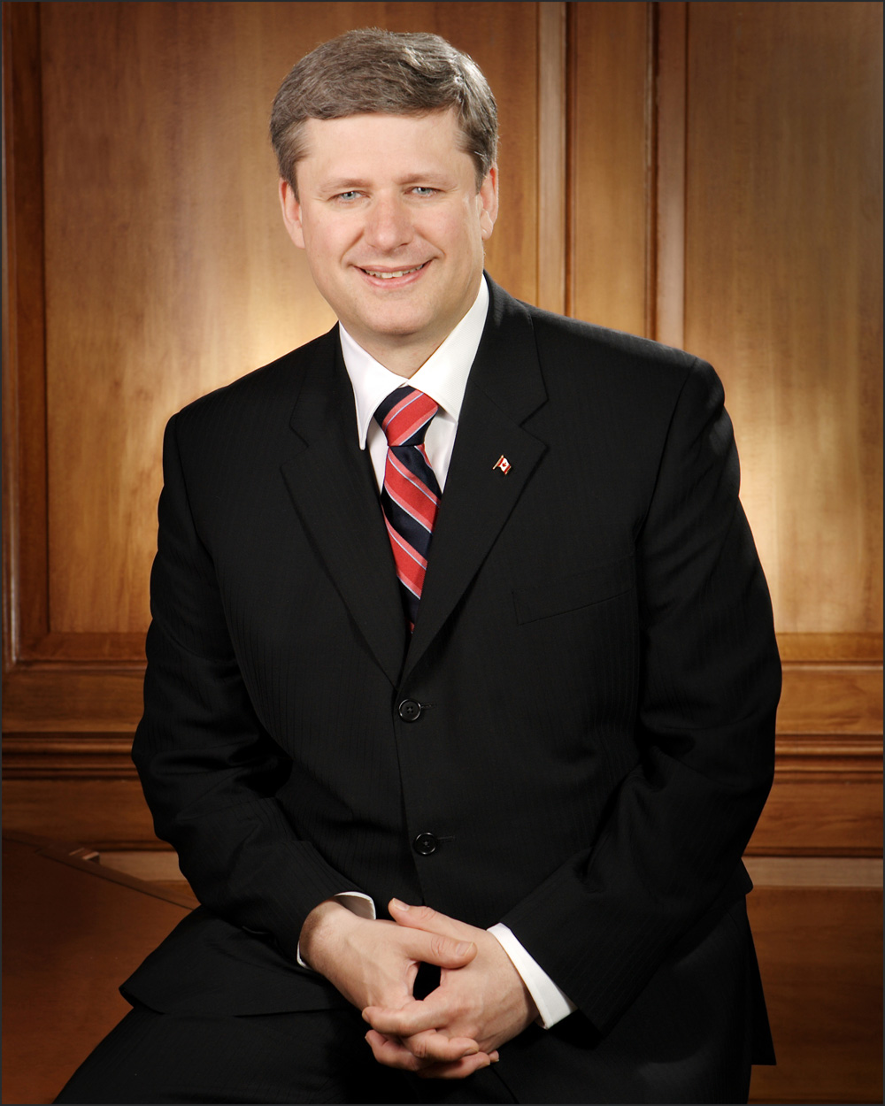 Link to the profile of the prime minister Stephen Harper