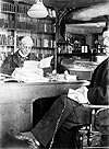 Prime Minister Wilfrid Laurier and his secretary, 1897.