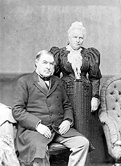 Le premier ministre Sir Charles Tupper et son épouse, Lady Frances, 1896.