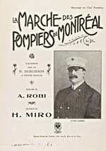 Cover of sheet music of LA MARCHE DES POMPIERS DE MONTRÉAL