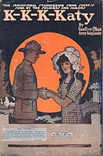 Cover of a WAR EDITION of sheet music for O'Hara's K-K-K-KATY