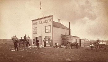 The Leader, the first newspaper in the Territory of Assiniboia, founded by Nicholas Flood Davin in 1883.